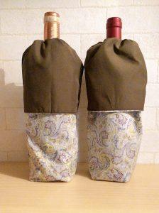 ブラインドテイスティングのための手作りワインバッグ